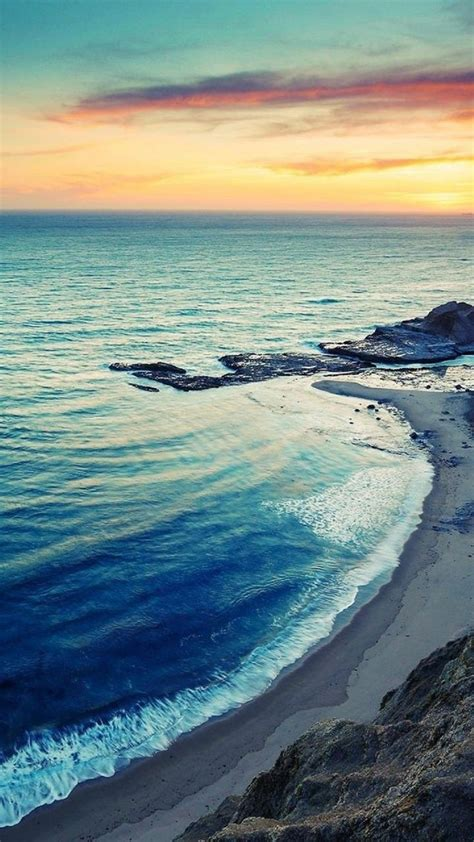 nature iphone   wallpapers sunrise beach seaside