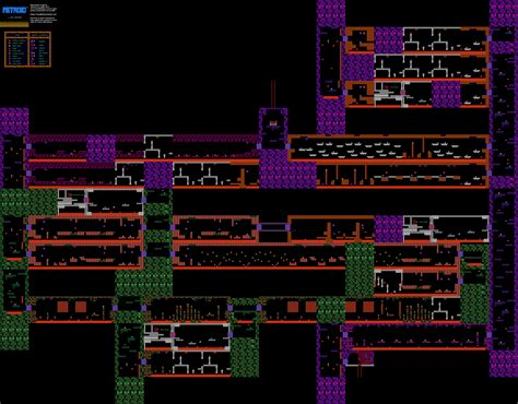 metroid map metroid norfair nintendo nes map