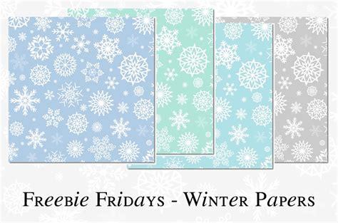 Freebie Fridays #38   Winter Scrapbook Papers   The Dutch