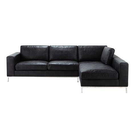 vintage corner sofa 4 seater leather vintage corner sofa in black jack