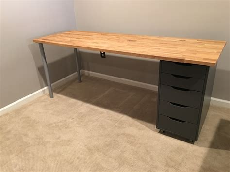 desk table ikea ikea hack custom transforming home office desks saving