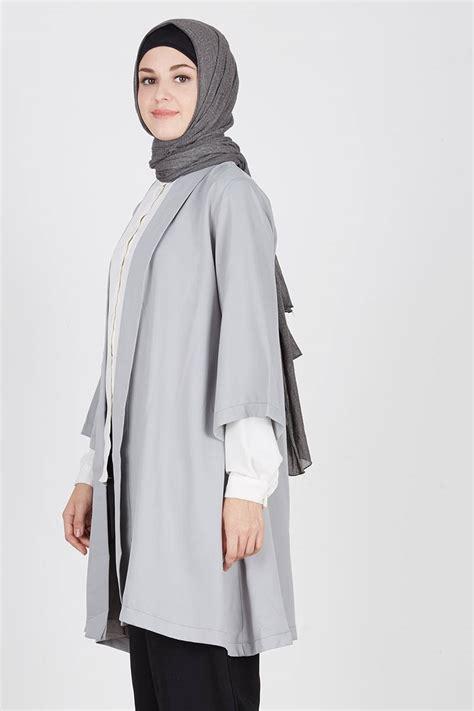 Outer Outwear Cardigan Kimono sell molly kimono outer grey outerwear hijabenka