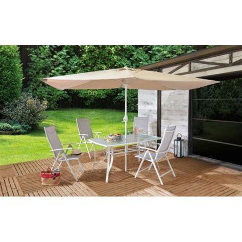 table et chaise de jardin carrefour carrefour set de jardin rona acier et tissu taupe 4