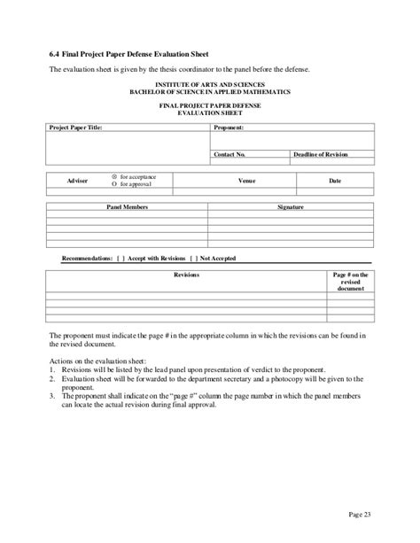 Ergonomic Evaluation Letter Dissertation Assessment Form