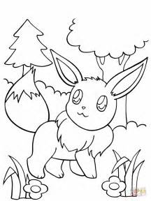 eevee coloring free printable coloring pages