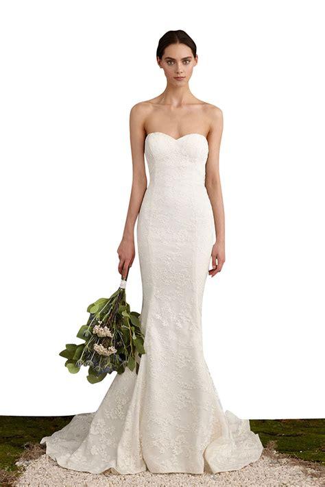 brautkleider meerjungfrau schlicht simple strapless sweetheart neckline mermaid lace wedding