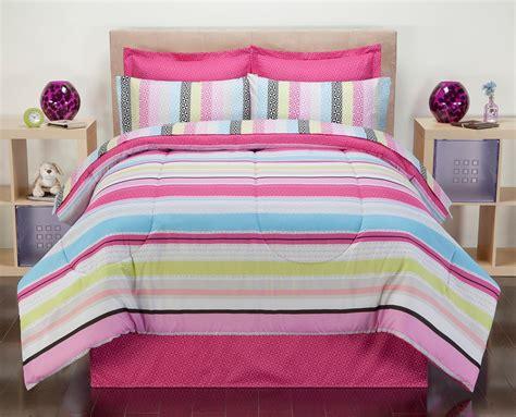colormate comforter set colormate pink carousel stripe bedding set home bed