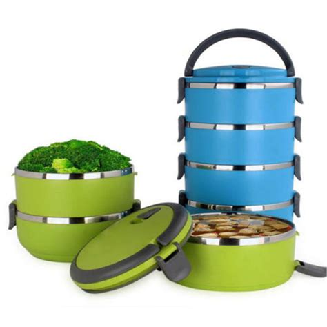 Stenlis Lunch Box Thermo Tunggal stainless steel thermal insulated lunch box bento food container handle 4 layers ebay