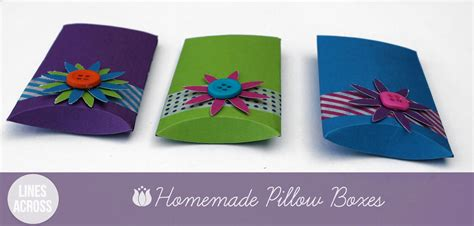 Handmade Boxes How To Make - make your own pillow boxes lines across