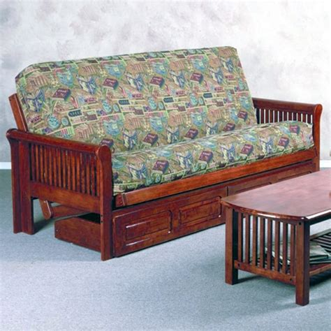 dark wood futon frame juliana wood futon frame slatted arms dark cherry dcg