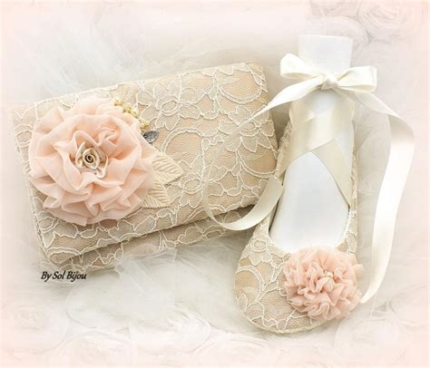 Blush Wedding Flats by Clutch Ballet Flats Ivory Blush Chagne Shoes