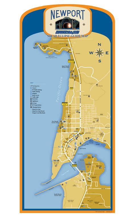 map of oregon newport city of newport or solar eclipse 2017