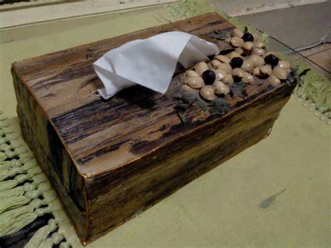 cara membuat kerajinan non organik cara membuat kotak tisu dari pelepah pisang bli blogen