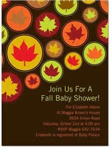 autumn baby shower invitations autumn crafts picture