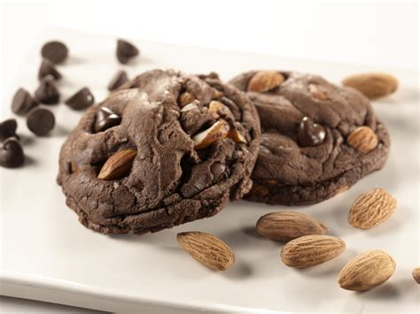 Choco Almond Cookies wallpaper cookies chocolate recipe cooking almonds