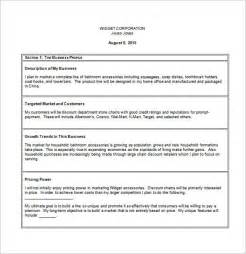 Free Business Plan Template For Small Business Simple Business Plan Template Download Writersstuff Web