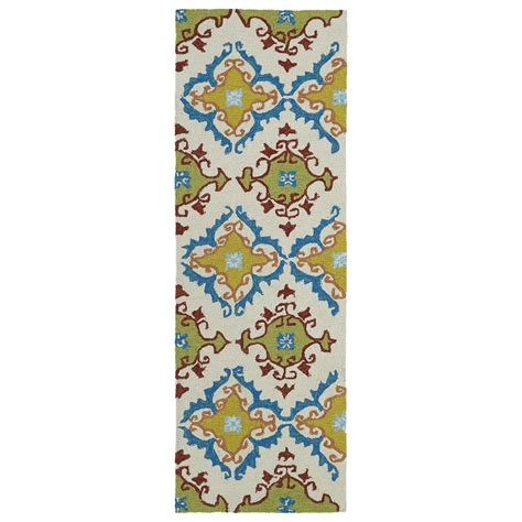 rugs 2 x 6 kaleen home and porch ivory 2 ft x 6 ft indoor outdoor rug runner 2030 01 2 x 6 the home depot