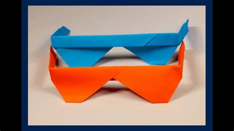 How To Make Paper Glasses For - how to make origami sunglasses easy origami tutorial my