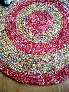 after sale crocheted rag rug by
