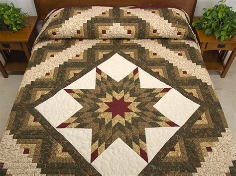 Amish Lone Quilt by Lone Log Cabin Quilt Splendid Made With Care Amish