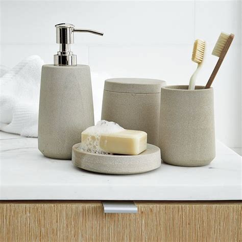 bathroom accessories stoneware bath accessories modern bathroom accessories by west elm