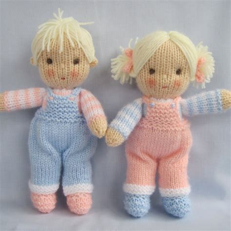 knitted doll and dolls knitting pattern instant by dollytime