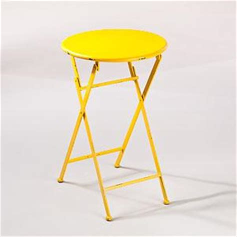 Yellow Metal Side Table Yellow Metal Folding Accent Table Outdoor And Patio Furniture Furniture World Market
