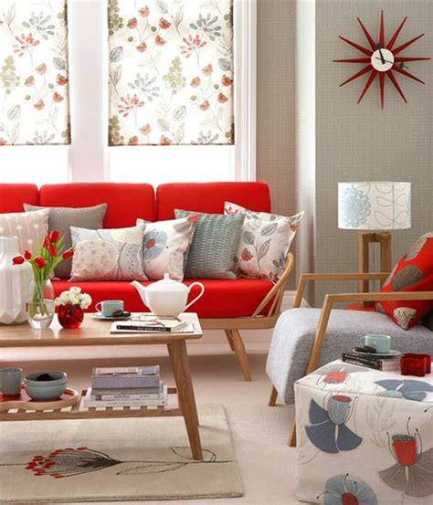 Living Room Flowers Ideas 14 Salas Decoradas Con Sof 225 S Color Rojo