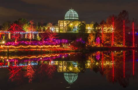 lewis ginter botanical garden lights richmond draws crowds with garden of lights wvtf