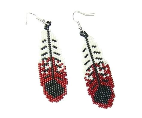 feather beaded earrings 354 best images about beaded earrings on