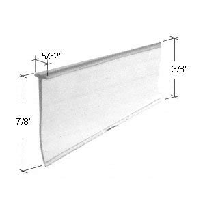 Bottom Of Shower Door Sweep Clear Tapered Shower Door Bottom Seal And Sweep Quot T Quot Type 36 In