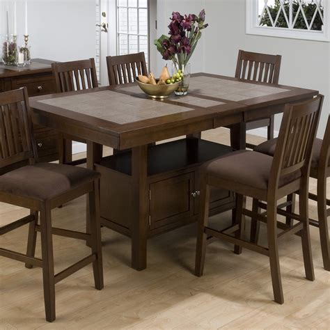 Tiled Kitchen Table Jofran Trumbull Tile Top Counter Height Storage Dining Table Dining Tables At Hayneedle