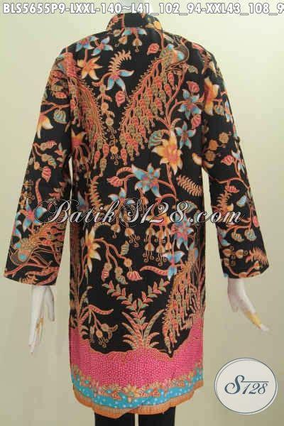 Baju Batik Muslim Mewah jual baju batik muslim blus kerah shanghai lengan
