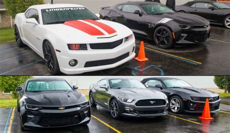 Generation 6 Mustang by 6 Camaro 2015 Mustang Side By Side Autos Post
