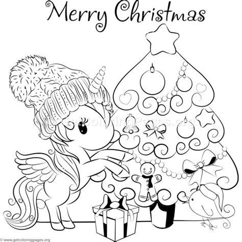 christmas unicorn coloring page cartoon christmas tree and unicorn coloring pages