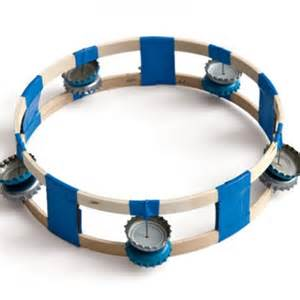 Homemade tambourine is perfect for singing around the campfire kids