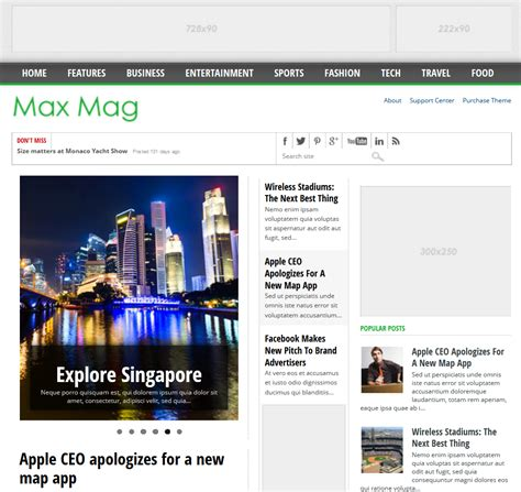 blog layout responsive download maxmag responsive blogger templates free