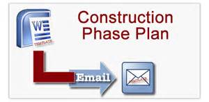cdm construction phase plan template construction phase plan templates