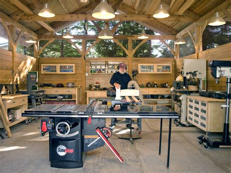 build a car workshop timber frame work shop finewoodworking