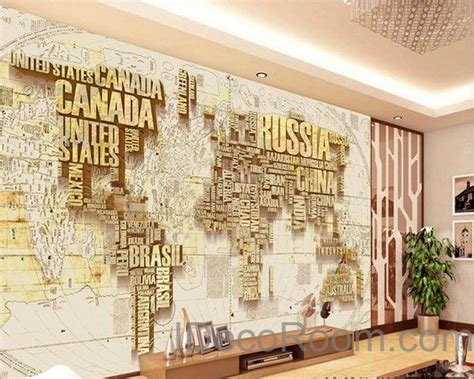 home decor nation abstract world map nation 3d wallpaper wall decals wall