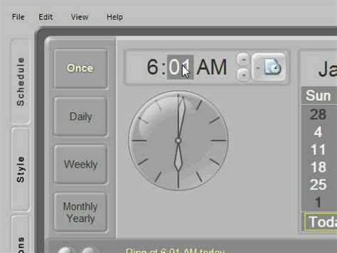 free alarm clock for your pc