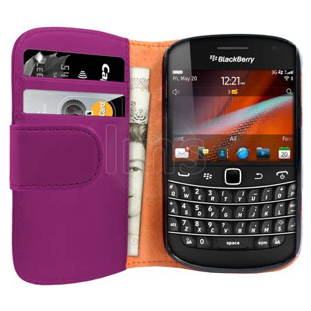 Leather Pda Kayu For Blackberry 9900 Dakota aio purple wallet leather for blackberry bold 9900 ebay
