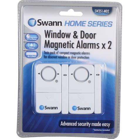 Magnetic Door Alarm by Swann Magnetic Window Door Alarm Pack Of 2 Sw351 Md2 B H