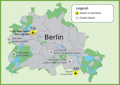 berlin germany map map of berlin airports