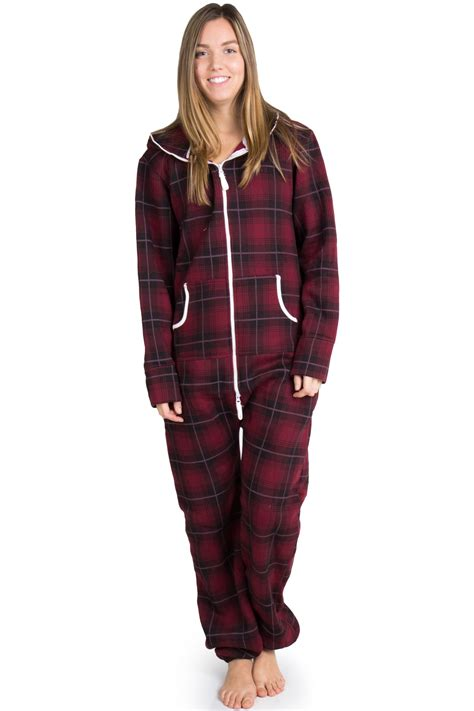 plaid pajamas burgundy plaid onesie pajamas 1