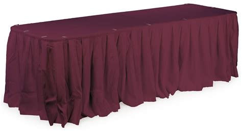 Table Skirts by Banquet Table Skirting Box Pleated For