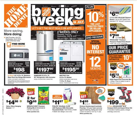 home depot flyer on july 3 to july 9 canada