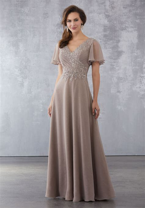 chiffon  lace special occasion dress  beading