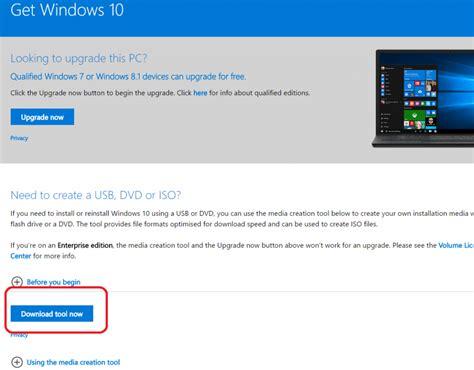 install windows 10 with media creation tool microsoft windows 10 installation media creation tool