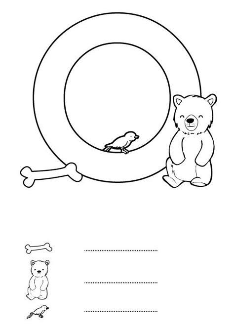 imagenes en ingles con la letra o letra o dibujo para colorear e imprimir